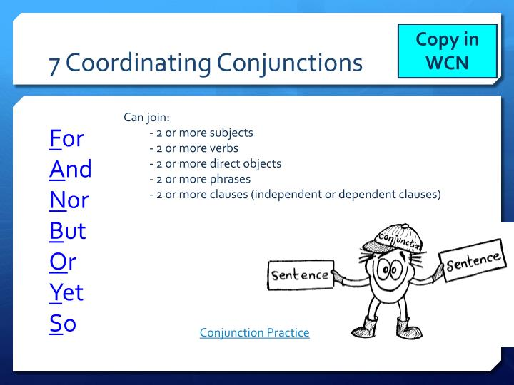 7 Coordinating Conjunctions