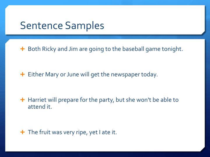 Sentence Samples
