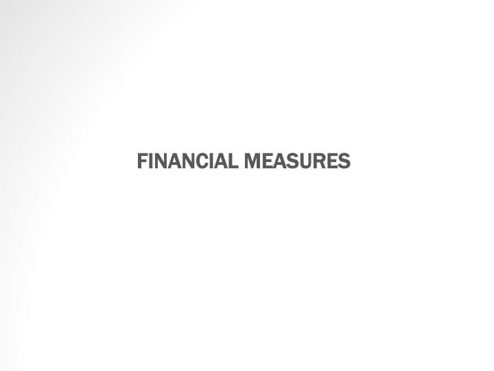 FINANCIAL MEASURES
