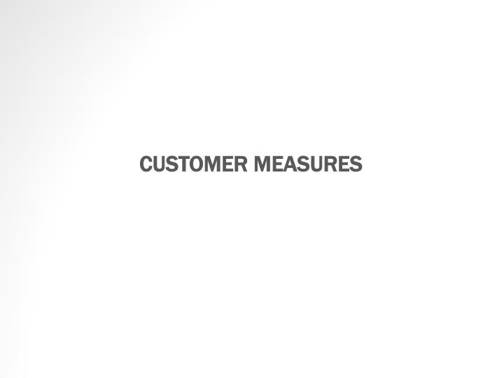 CUSTOMER MEASURES