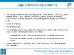 legal retention requirements