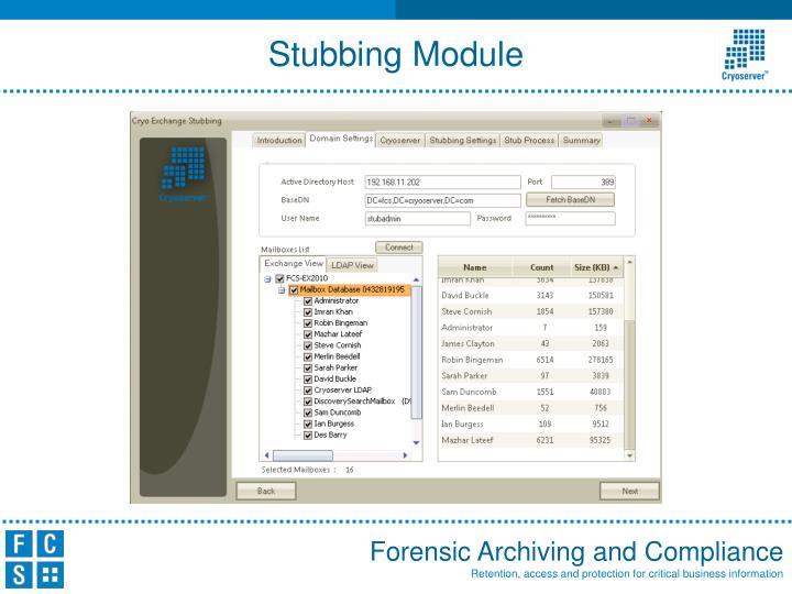 Stubbing Module