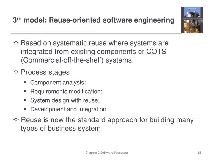 Based on systematic reuse where systems are integrated from existing components or COTS (Commercial-off-the-shelf) systems.