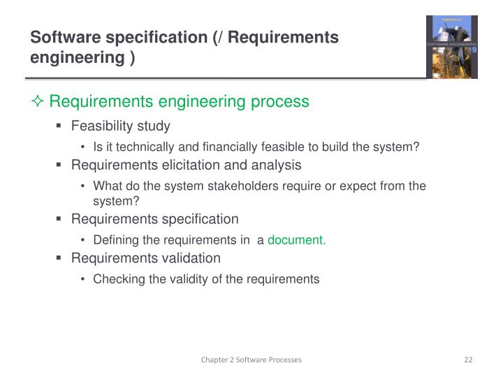 Software specification (/ Requirements engineering )