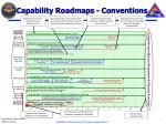capability roadmaps conventions