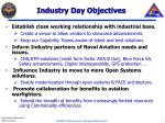 industry day objectives