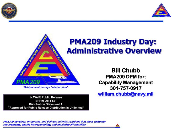PMA209 Industry Day: