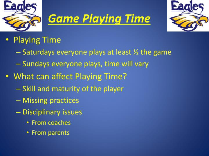 Game Playing Time