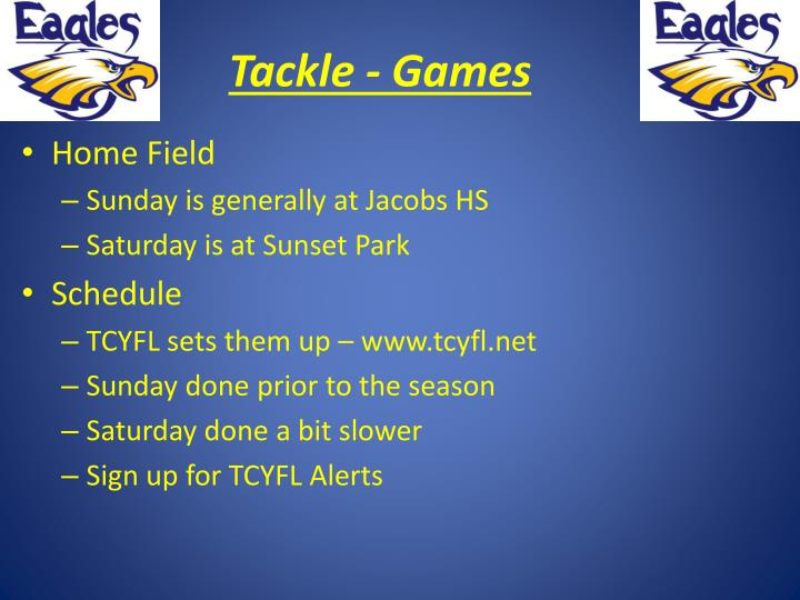 Tackle - Games
