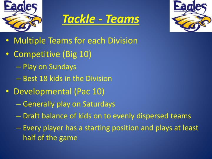 Tackle - Teams
