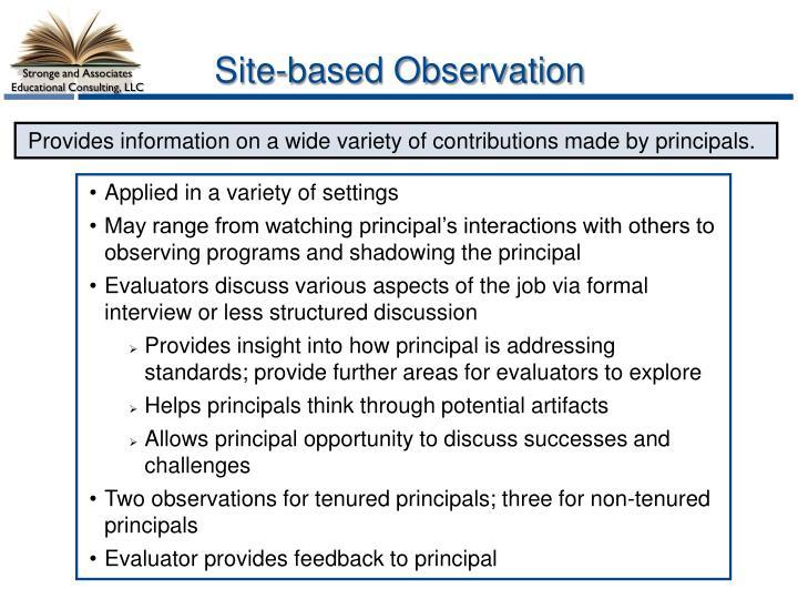 Site-based Observation
