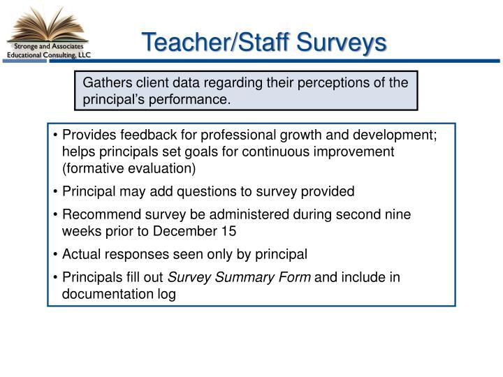 Teacher/Staff Surveys