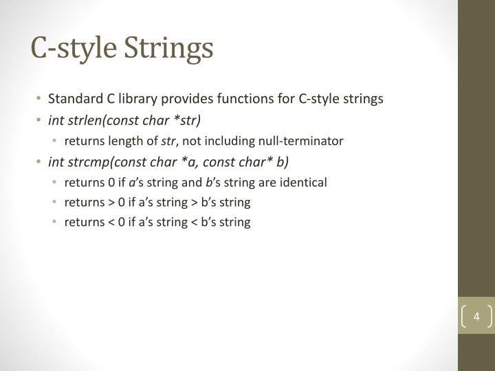 C-style Strings