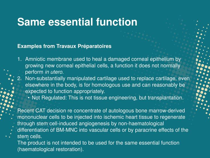 Same essential function