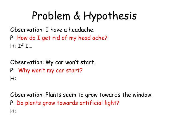 Problem & Hypothesis