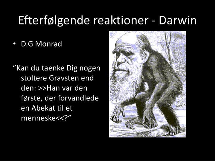Efterfølgende reaktioner - Darwin