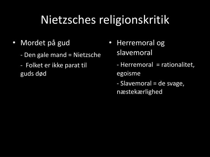 Nietzsches religionskritik