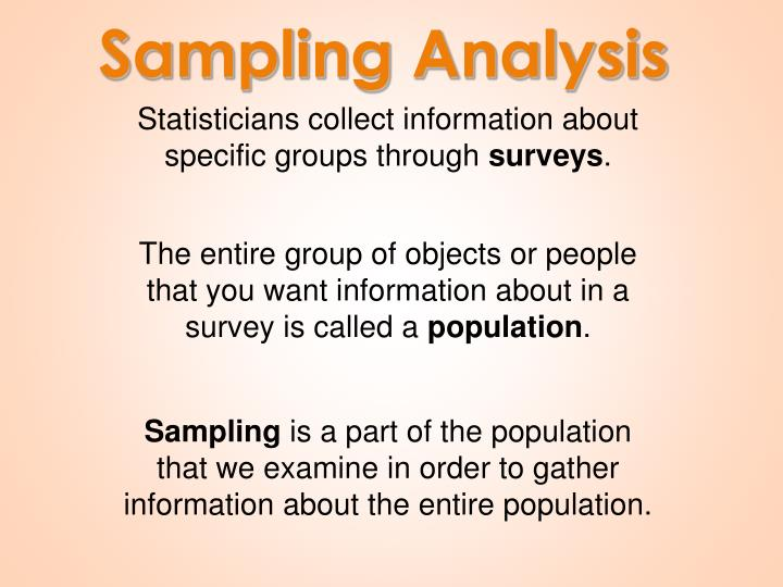 Sampling Analysis