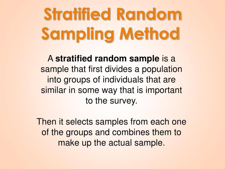 Stratified Random