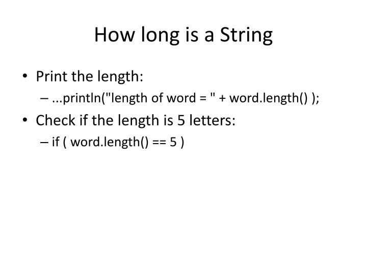 How long is a String
