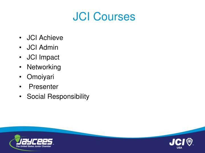 JCI Courses