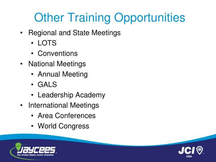 Other Training Opportunities