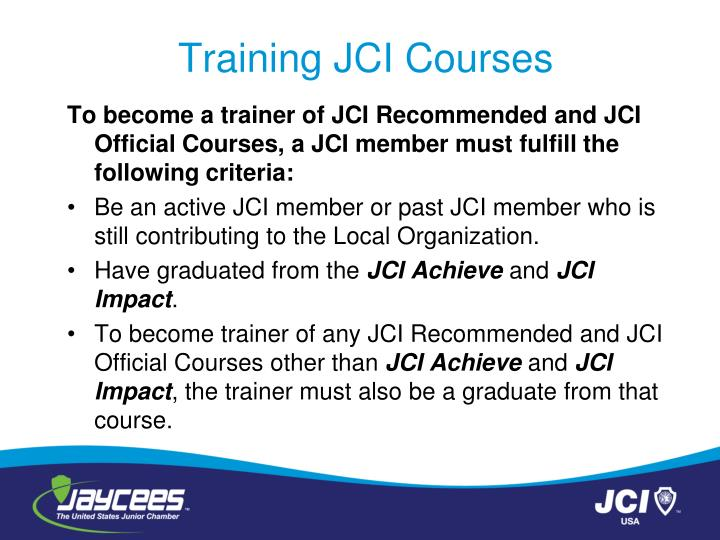 Training JCI Courses