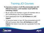 training jci courses