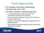travel opportunities