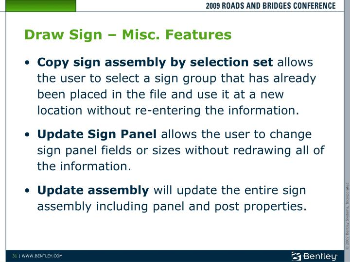 Draw Sign – Misc. Features