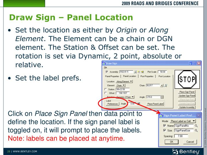 Draw Sign – Panel Location