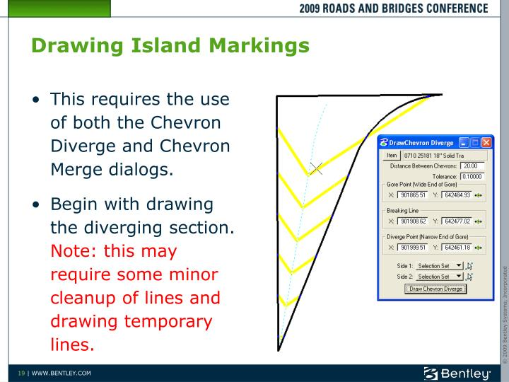 Drawing Island Markings