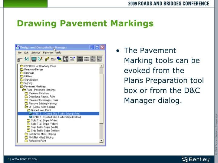 Drawing Pavement Markings