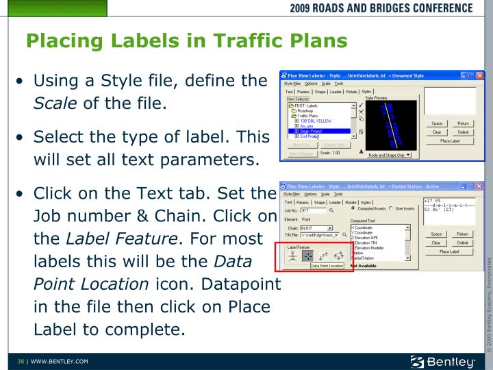 Placing Labels in Traffic Plans