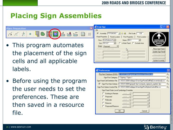 Placing Sign Assemblies