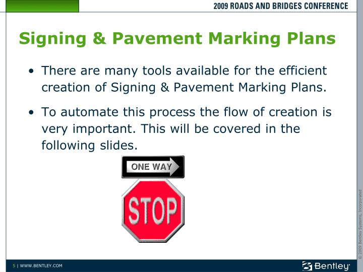 Signing & Pavement Marking Plans