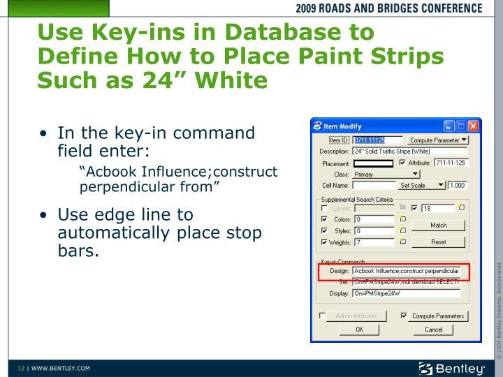 Use Key-ins
