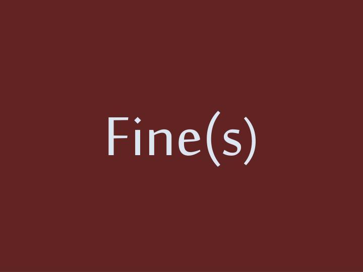 Fine(s