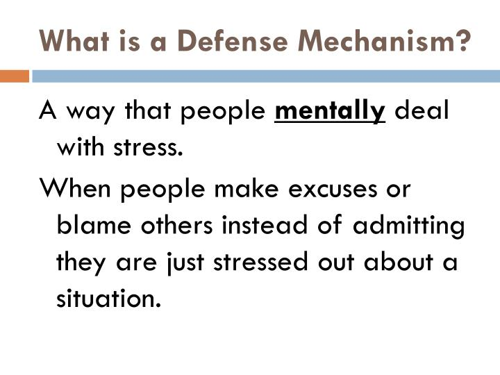 What is a Defense Mechanism?