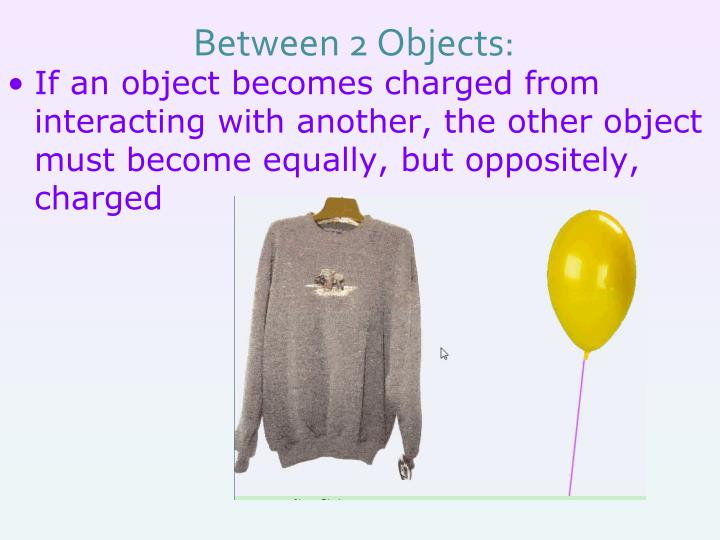 Between 2 Objects: