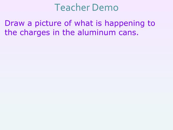 Teacher Demo