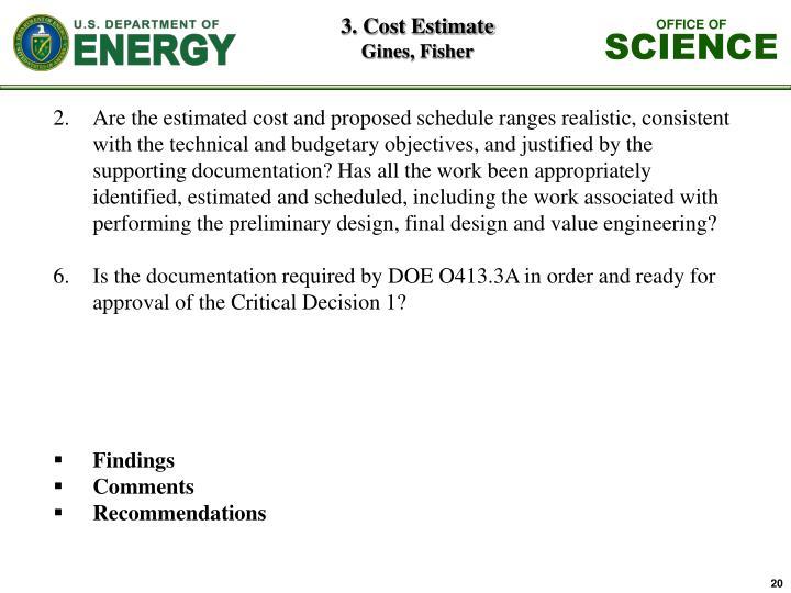3. Cost Estimate