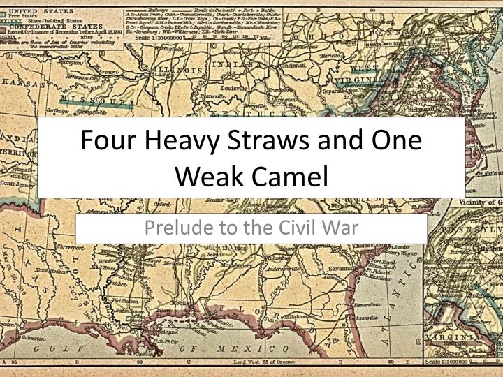 Four heavy straws and one weak camel
