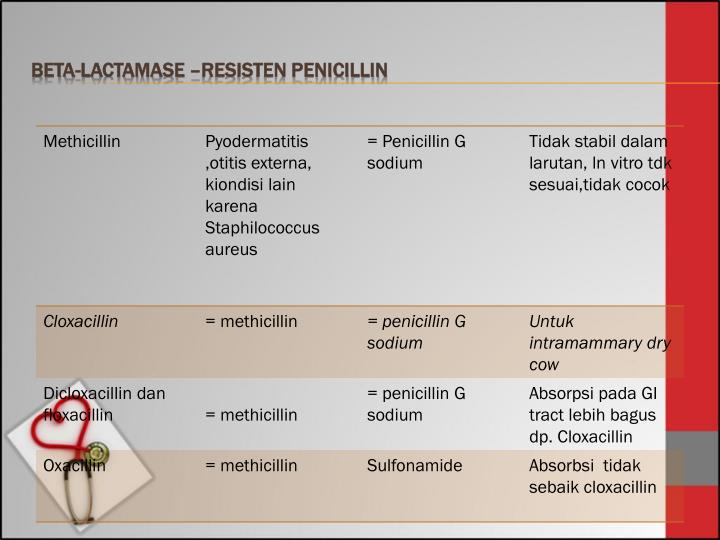 Beta-Lactamase –Resisten Penicillin