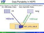 data portability in hdf5