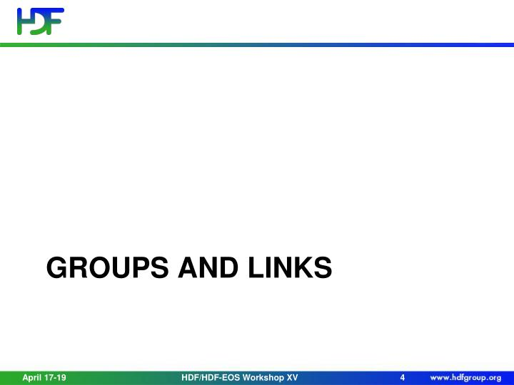 Groups and Links