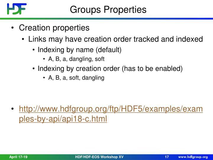 Groups Properties