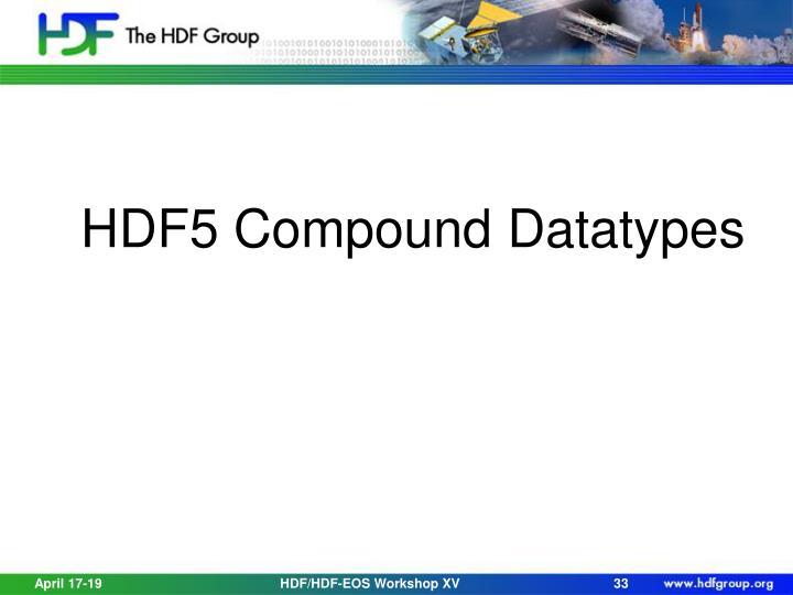HDF5 Compound