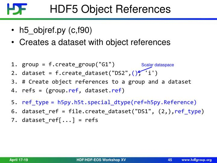 HDF5 Object References