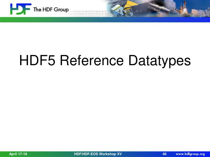 HDF5 Reference